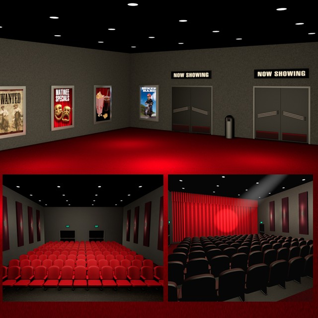 C4Depot 3D model Movie Theatre Interior