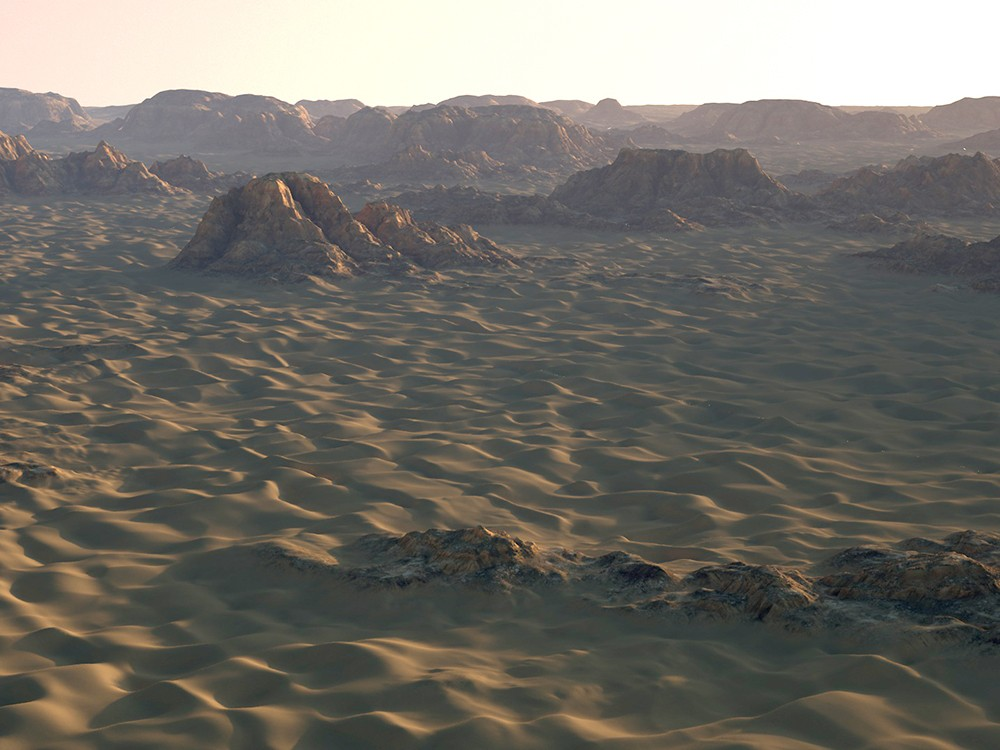 Infinite Dunes 2.0 from C4Depot - 3D desert sand dune landscape plugin for Cinema 4D
