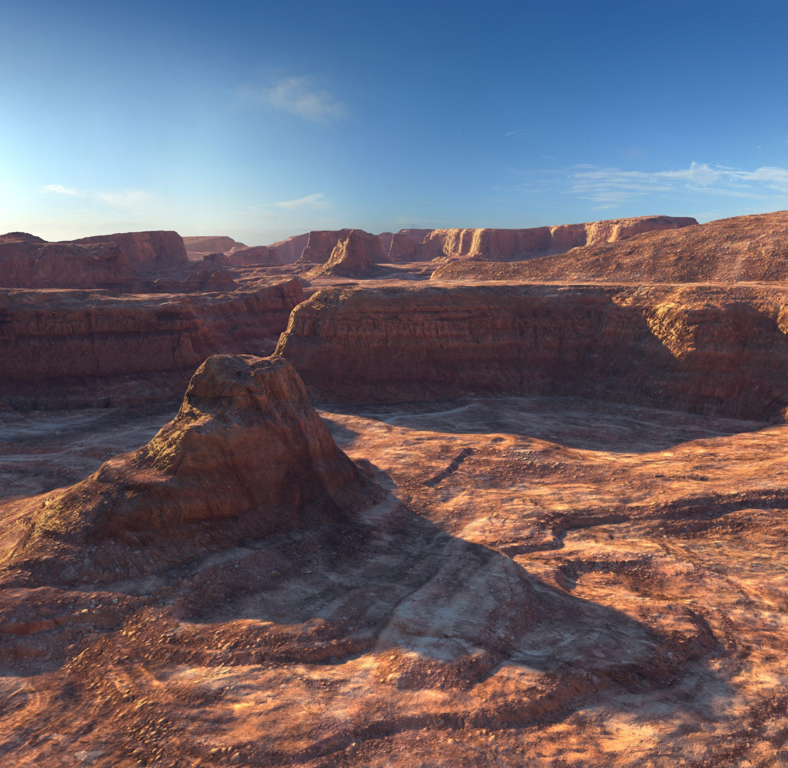 Infinite Canyons — 3D canyon shader and canyon landscape plugin for Cinema 4D by C4Depot.com