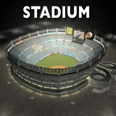 3D Stadium model and rig for Cinema 4D by C4Depot