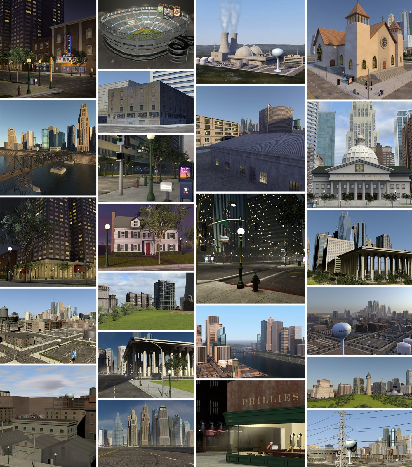 City Rig 2.0 by C4Depot, 3D menu Cinema 4D