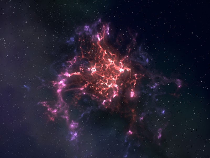 Infinite Space — 3D outer space environment for Cinema 4D with nebulae