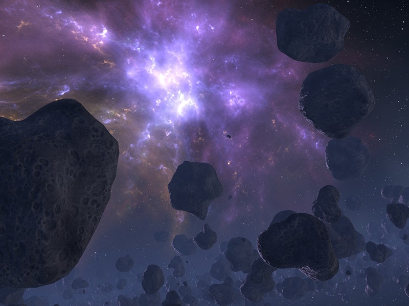 Infinite Space — 3D outer space environment for Cinema 4D with asteroid field
