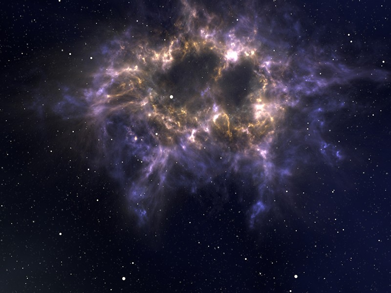 Infinite Space — 3D outer space environment for Cinema 4D from C4Depot with 3D nebulae