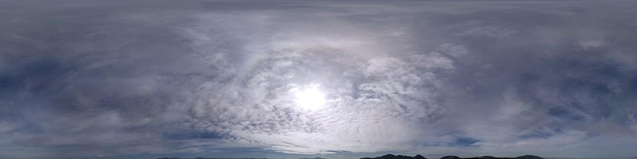 Thin Overcast HDRI sky panorama