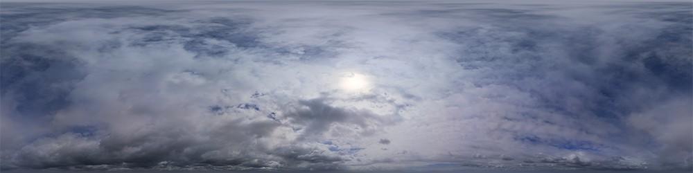 Rainy Overcast Cloudy HDRI Sky Panorama