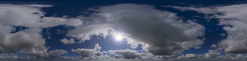 Big Cumulus HDRI sky panorama #45