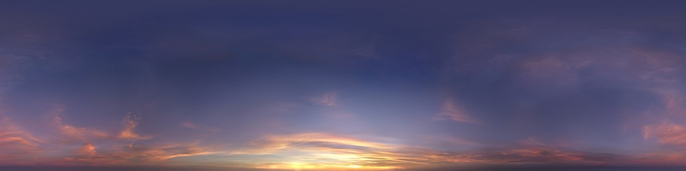 Wispy Sunset HDRI Sky Panorama