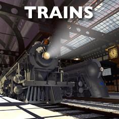 3D locomotive models for Cinema 4D